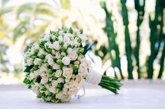 As fotografias do ramo da noiva