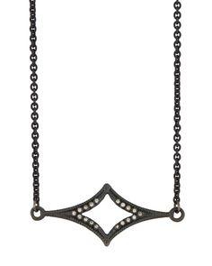 Old World Crivelli Station Necklace w/ Champagne Diamonds