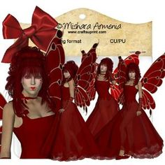 Amelia Rococo Red Heart