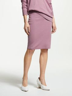 38a425638 BuyWinser London Milano Wool Skirt, Heather, XS Online at johnlewis.com