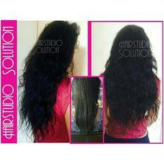 Voor en na Hairweave
