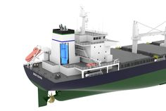 'Green Dolphin' – New Handysize Bulk Carrier Concept Design – 4 Green Dolphin, Model Ships, Willis Tower, Dolphins, Illustrator, Layouts, Amy, Concept, Models