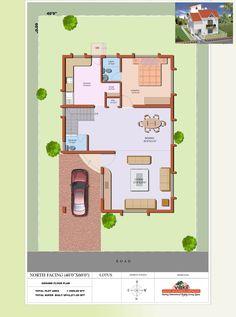 2 Bedroom Floorplan 800 Sq Ft North Facing House Plan East Facing