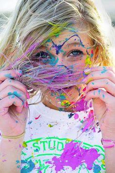 Have a paint fight. Paint Photography, Portrait Photography, Paint Fight, Color Wars, Cute Couple Poses, Rain Painting, Photoshoot Themes, Creative Portraits, Paint Splatter