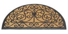 Gardman 8523 28.8-Inch by 17-Inch Half Moon Wrought Iron Look Doormat by Gardman. $15.99. Wrought Iron look half moon design. 28.8-Inch by 17-Inch. Fiber embossed design. Tough rubber doormat. Gardman usa 8523 28.8-inch by 17-inch half moon wrought iron look doormat