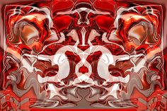 Go Cougs!  By Omaste Witkowski  owFotoGrafik.com  The Red and Grey and White reminds me of WSU or Washington State University. This abstract take on a cougar is for my husband who is an alumnus of this school.