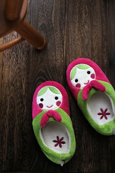 matryoshka , slippers , room shoes