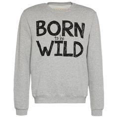 Pullover mit Print - Cooler graufarbener Pullover von HAPPINESS. Der Print sticht direkt ins Auge und ist ein auffälliges Statement. - ab 44,95€