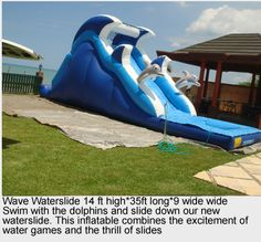 wave water slide perfect to keep the kids cool