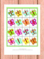 Freebie - Spring Butterfly Color Recognition File Folder Game - @itsybitsyfun - D