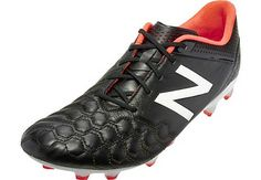 New Balance Visaro K-Lite FG Soccer Cleats - Black and White