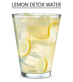 Simple lemon detox water