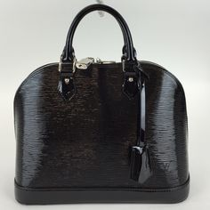 Louis Vuitton Electric Black Epi Alma pm This bag is in great pre loved condition it has the lock and keys no dust cover. The corners do have some wear as shown in the picture. MAX060602OZXPP Louis Vuitton Bags Satchels