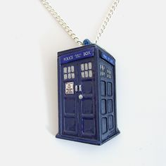Doctor Who Tardis Pendant and Necklace