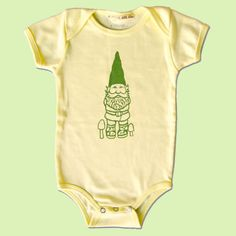 Better Gnomes and Garden: Gnome Onesie    Lets put our kids in this @Eleanor Marple!