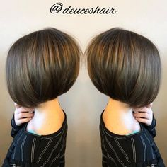 Sleek Bob With Sun-Kissed Highlights