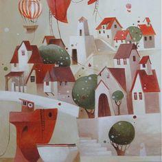 ajsha / rušné ráno na malom ostrove Advent Calendar, Holiday Decor, Home Decor, Art, Art Background, Kunst, Interior Design, Performing Arts, Home Interiors