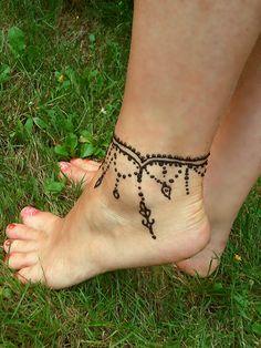 Henna Tattoo Fuß