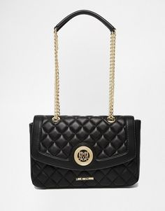 Love Moschino   Love Moschino Quilted Shoulder Bag in Black at ASOS