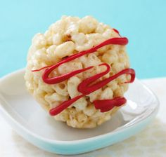 Scrumptious balls of Rice Krispies Treats® with a chocolate-covered cherry inside!