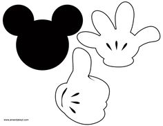 Mickey templates for props Baby Mickey, Mickey E Minie, Fiesta Mickey Mouse, Mickey Mouse Bday, Mickey Mouse Clubhouse Birthday Party, Mickey Mouse Parties, Mickey Birthday, Mickey Party, Mickey Mouse And Friends