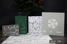 Weihnachtskarte mit Keksausstechern | Christmas Cards made with cookie cutters