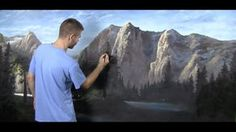 "We are on Part 3 of the ""Sunlit Mountains Gallery Masterpiece"" painting! In this video, we added in a few foreground trees, highlights to the background grass area, as well as highlights to the waterfall on the left-hand side of the painting. Be sure to leave a comment and like if you are enjoying this big 4x8ft painting. For more information about full length DVDs, brushes, oil paint and more, please visit: www.paintwithkevin.com"