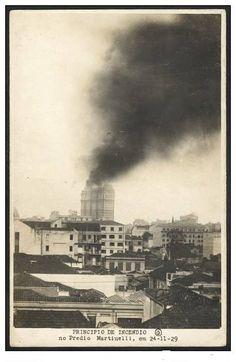24 de novembro de 1929 - Princípio de incêndio no Edifício Martinelli.