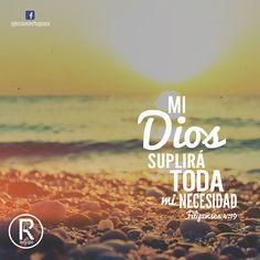 Filipenses 4:19 Mi Dios, pues, suplirá todo lo que os falta conforme a sus riquezas en gloria en Cristo Jesús. ♔