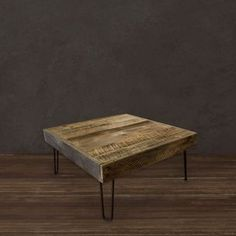 Reclaimed Wood Square Coffee Table by