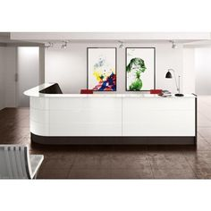 Our makes a fantastic addition to any office and is available to view online. Curved Reception Desk, Reception Desk Design, Reception Desks, Storage Chest, Cabinet, Interior, Furniture, Solid Surface, Home Decor