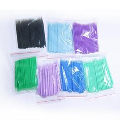 100pcs/lot Durable Micro Brush Disposable Eyelash Extension Individual Applicator Mascara Makeup Brushes Makeup Tool For Women