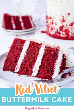 Real red velvet cake is not chocolate cake with food coloring how to make an authentic red velvet layer cake with cream cheese frosting. If you've been wondering how to make a REAL red velvet cake, yo Real Red Velvet Cake Recipe, Moistest Red Velvet Cake Recipe, Red Velvet Cake Rezept, Easy Red Velvet Cake, Delicious Cake Recipes, Best Cake Recipes, Yummy Cakes, Fig Cake, Cake Recipes From Scratch