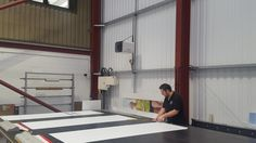 The new BN Thermic OUH2 industrial unit heater installed in a warehouse in Devon.