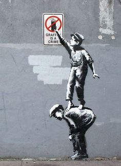 Banksy is taking what we think about graffiti and turning it upside down. What is the difference between vandalism and art?