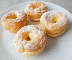 Věnečky zodpalovaného těsta Churros, Bagel, Doughnut, Food And Drink, Sweets, Bread, Baking, Drinks, Desserts
