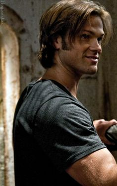 Sam Winchester. His arms are magical. If only he would come scoop me up and take me away from everything...