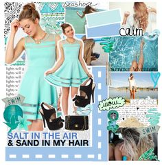 """""""{{ SALT iN THE AiR && SAND iN MY HAiR  }}"""" by rolingpaige ❤ liked on Polyvore"""