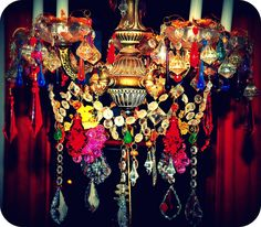 Boho Gypsy Chandelier. Wild colors!