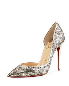 mens replica shoes - CHRISTIAN LOUBOUTIN Iriza Half D\u0026#39;Orsay Mini Glitter Pumps ...