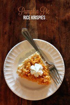 {Recipes} Pumpkin Pie Rice Krispie Treats