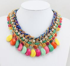 Statement Necklace Multicolor  Chunky Necklace by Necklace21, $15.90
