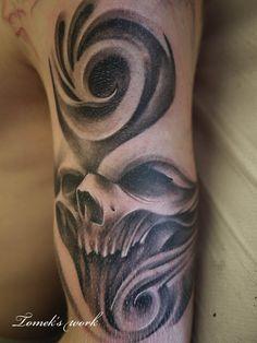 swirl skull1 by ~Tomyslav on deviantART