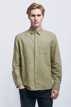 Wash Out L/S Shirt - Khaki