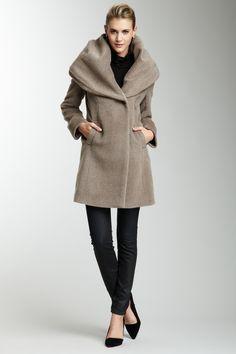 Elie Tahari Janine Hooded Coat on HauteLook