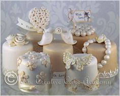 Here is a sneak preview of the new Mini Cake Collection we have designed for the forthcoming issue of Wedding Cakes & Sugar Flowers - A...