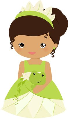 Tiana - The Princess and the Frog Art Disney, Disney Kunst, Disney Princess Party, Baby Princess, Felt Dolls, Paper Dolls, Cute Images, Cute Pictures, Princesa Tiana