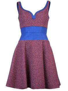 CARVEN Frothy Tweed Dress