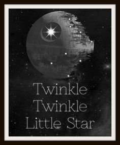 Twinkle Twinkle Little Death Star Typography Nursery Art Geek-a-bye Baby Star Wars Bedroom, Star Wars Nursery, Nursery Art, Geek Nursery, Nursery Ideas, Nursery Prints, Galaxy Nursery, Disney Nursery, Star Wars Baby