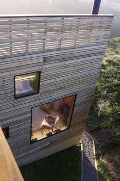 timber cladding + flush windows